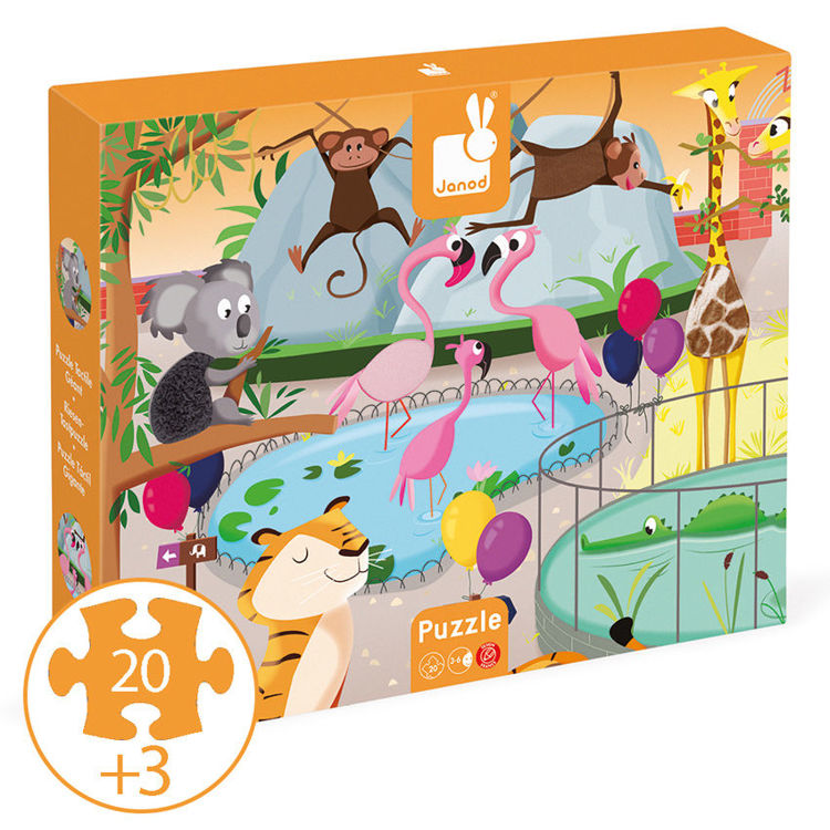 Picture of TACTILE PUZZLE ZOO 20PC